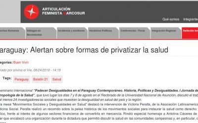 Paraguay: Alertan sobre formas de privatizar la salud