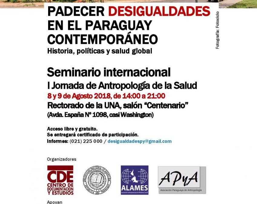 """Realizan Seminario sobre """"Padecer Desigualdades en el Paraguay Contemporáneo"""""""